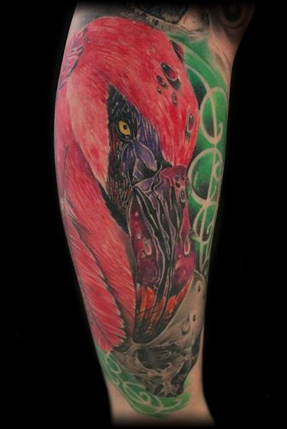 Tattoos - Flamingo and Skull - 91554