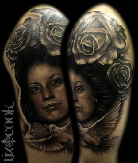 Liz Cook - Jaimes Memorial Portrait Tattoo