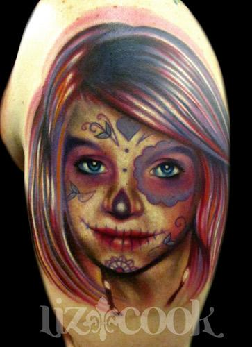 Liz Cook - Day of the dead portrait.