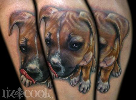 Liz Cook - Jens Puppy Portrait Tattoo