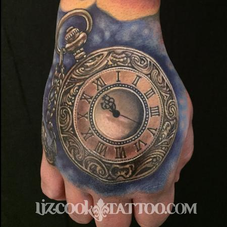 Time Piece on the Hand Tattoo Design Thumbnail