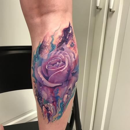Abstract Rose Tattoo Thumbnail