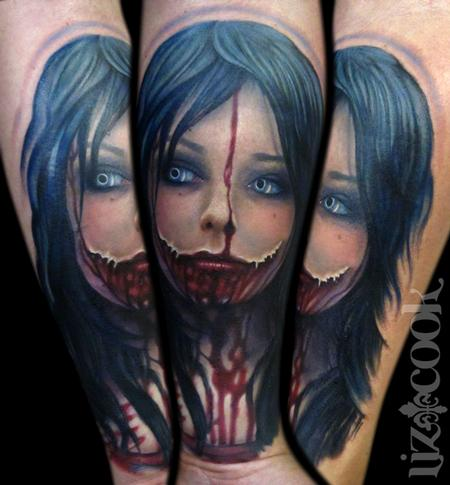 Horror Chick Tattoo Design Thumbnail