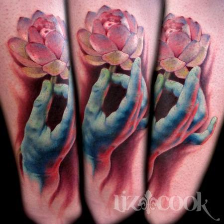Tattoos - Hand and Lotus Tattoo - 60323