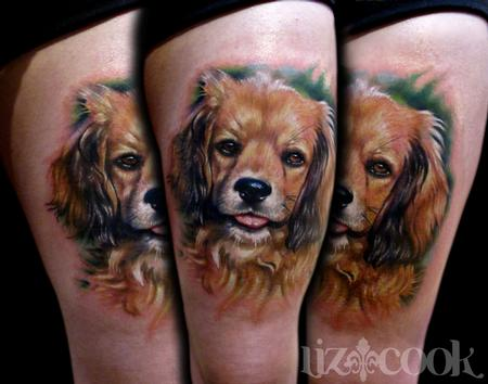 Liz Cook - Madelines dog tattoo