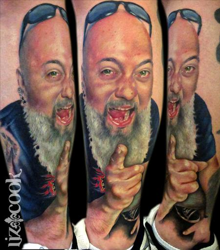 Mike Kelly Portrait Tattoo Design Thumbnail