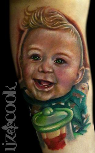 Tattoos - Nick's portrait of his little guy. - 62986