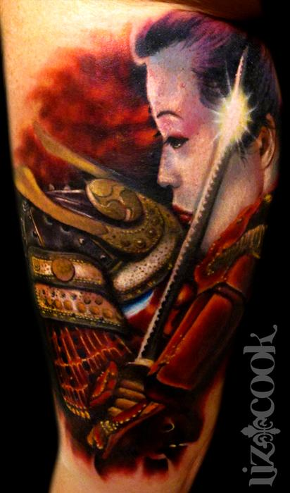 samurai and geisha by liz cook tattoonow. Black Bedroom Furniture Sets. Home Design Ideas