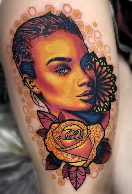 Geo Liz Girl  Tattoo Thumbnail