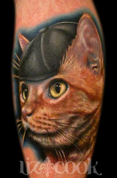Kitty Cat Tattoo Design Thumbnail