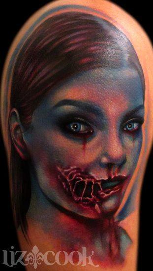 Tattoos - Jessica Stam, Zombie Style - 67813