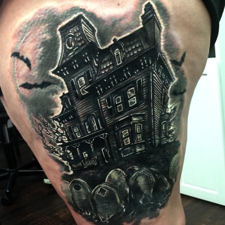 Haunted House Tattoo Thumbnail