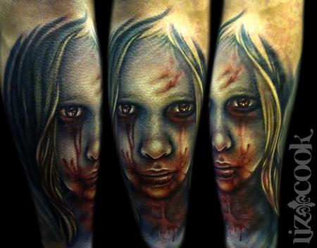 Tattoos - Creepy Girl Portrait - 63144