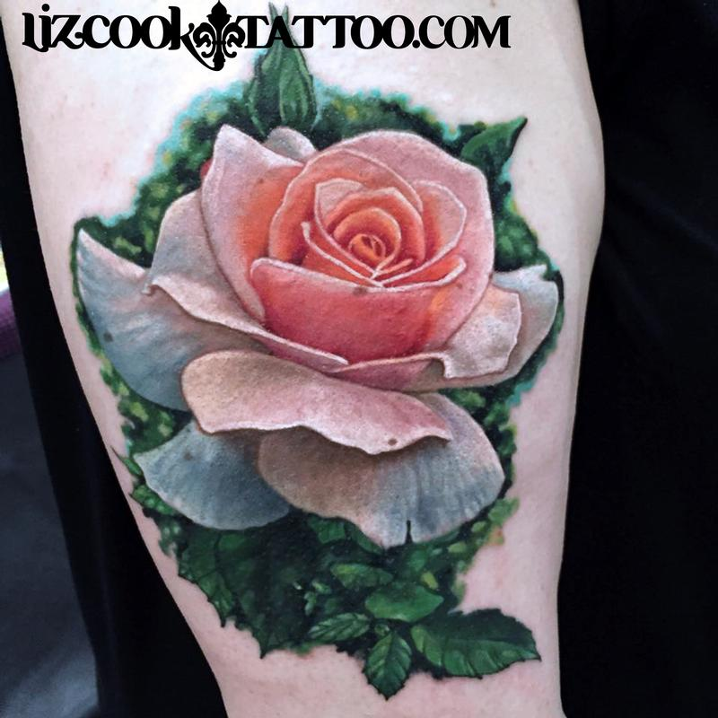 Realistic Rose by Liz Cook: TattooNOW