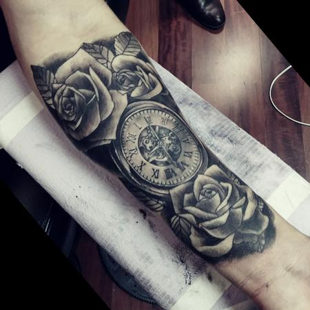 Tattoos - Watch and Roses - 131526