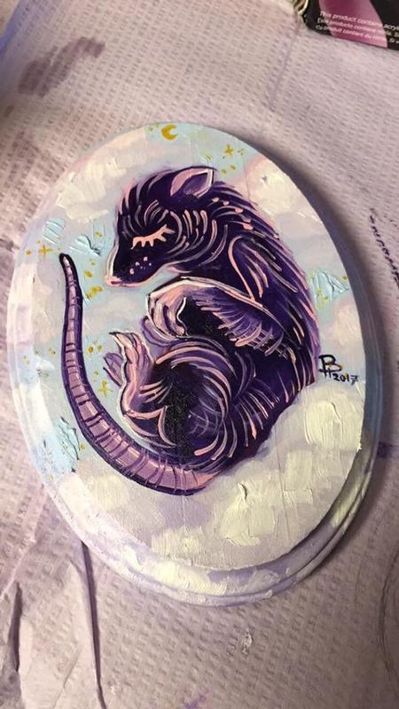 Tattoos - Rat oil painting - 133691