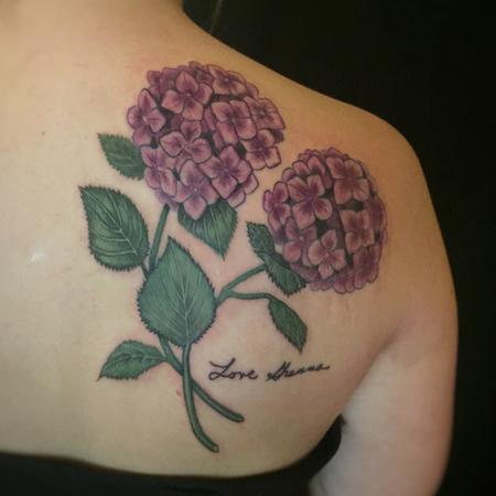 Tattoos - Hydrangea tattoo - 130841