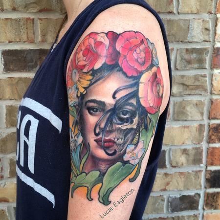 Dia de las Kahlo Tattoo Thumbnail