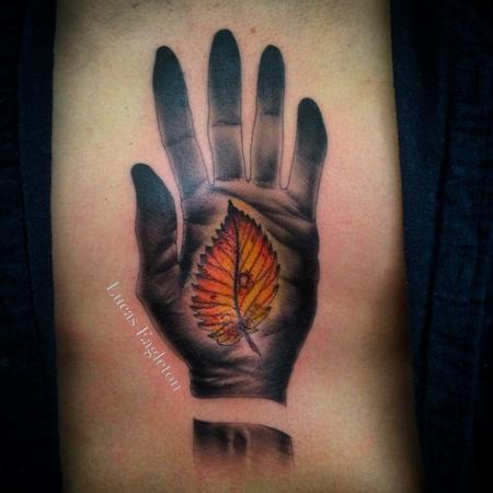 Tattoos - Leaf in Hand - 104701