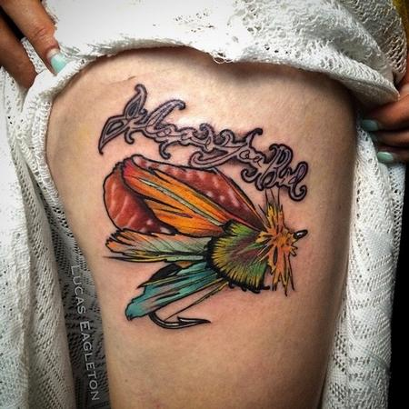 Grand-dad Fly Fishing tattoo Tattoo Design by Lucas Eagleton