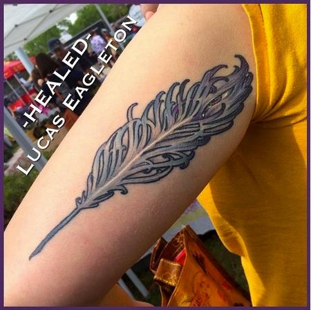 Tattoos - Art Nouveau Feather - 115400