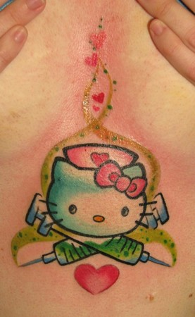Looking for unique  Tattoos? Nurse Hello Kitty Tattoo