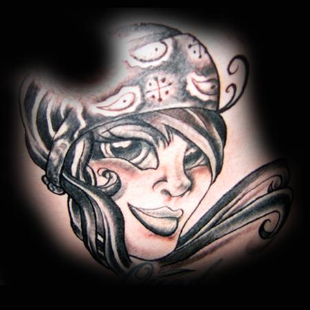 mexican art tattoo - Chopper tattoo website designChopper tattoo ...