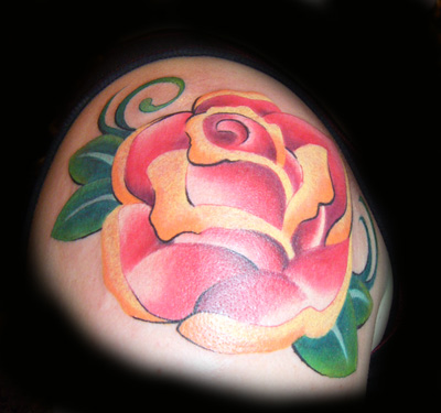 Tattoos Traditional Old School tattoos Baltimore Rose Tattoo