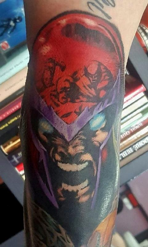 Magneto tattoo by jesse neumann tattoonow for Tattoo shops in castle rock