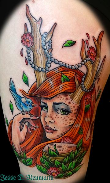 Fawn tattoo by jesse neumann tattoonow for Tattoo shops in castle rock