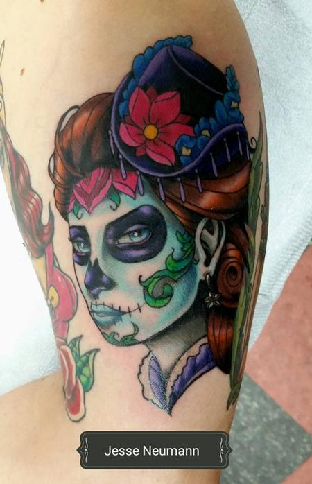 Tattoos - Victorian Day of the Dead Woman - 119486