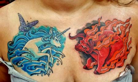 Jesse Neumann - Last Unicorn tattoo