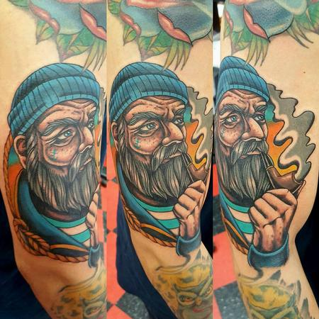 Jesse Neumann - Old Fisherman Tattoo