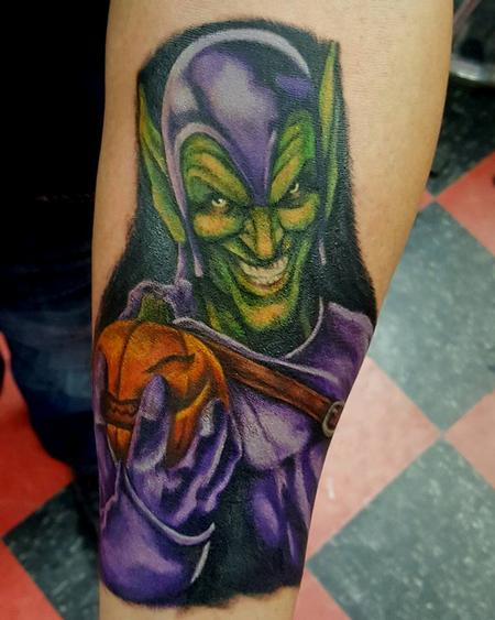 Green Goblin Tattoo Design Thumbnail