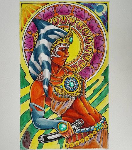Jesse Neumann - Ashoka Tano painting