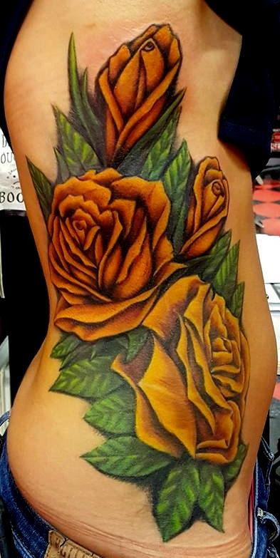 Tattoos - Yellow Roses Tattoo - 133225