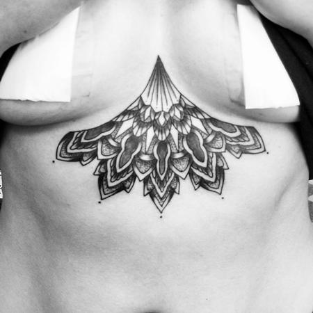 Mandala Sternum Tattoo Design Thumbnail