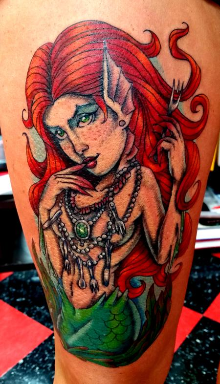 Tattoos - Mermaid Tattoo - 115974