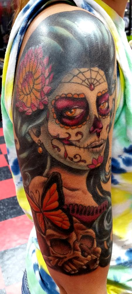 Tattoos - Day of the Dead woman tattoo - 117367