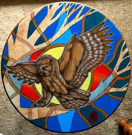 Tattoos - Grey Owl painting - 122843