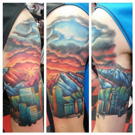 Tattoos - Denver Skyline Tattoo - 115971