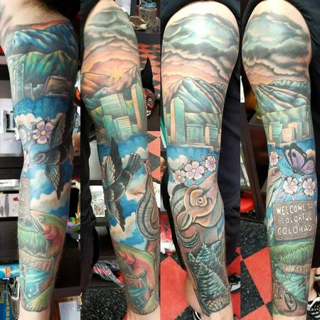 Jesse Neumann - Colorado sleeve tattoo
