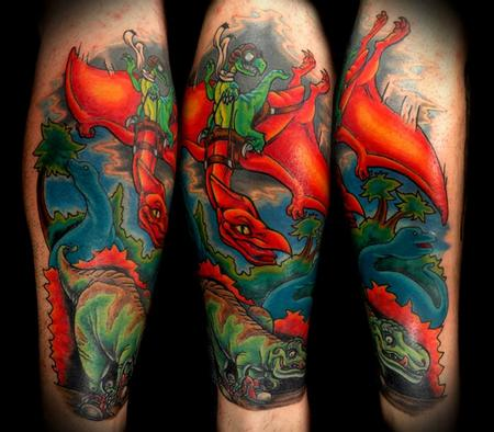 Tattoos - Dino Tattoo - 91668