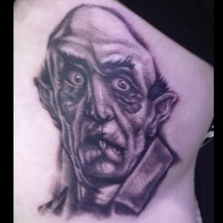 Tattoos - Nosferatu Portrait Tattoo - 94003