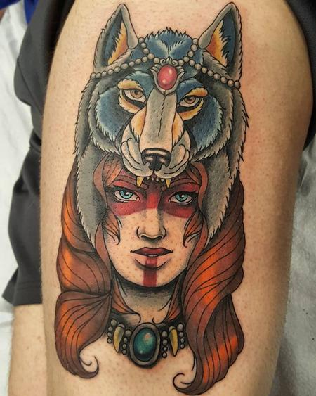 Jesse Neumann - Wolf Headdress Woman