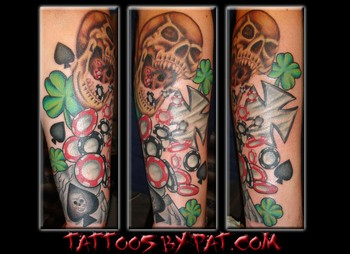 Tatto Studios on Lucky 7 Tattoo Studio   Tattoos   Color   Skull Poker