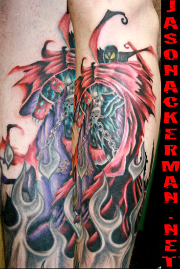 Jason Ackerman - spawn tattoo