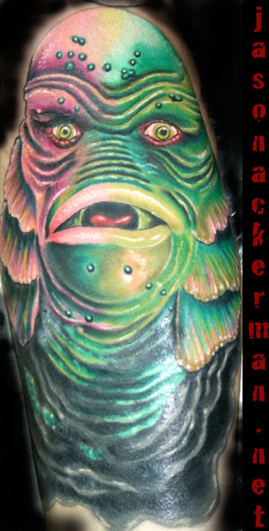 Creature from the black lagoon by jason ackerman tattoonow for Jason ackerman tattoo