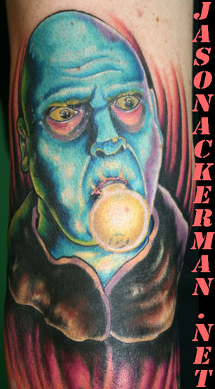 Uncle fester tattoo by jason ackerman tattoonow for Jason ackerman tattoo