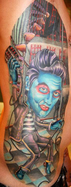 Tattoos - Jail house rock ELVIS tattoo!!! - 68973